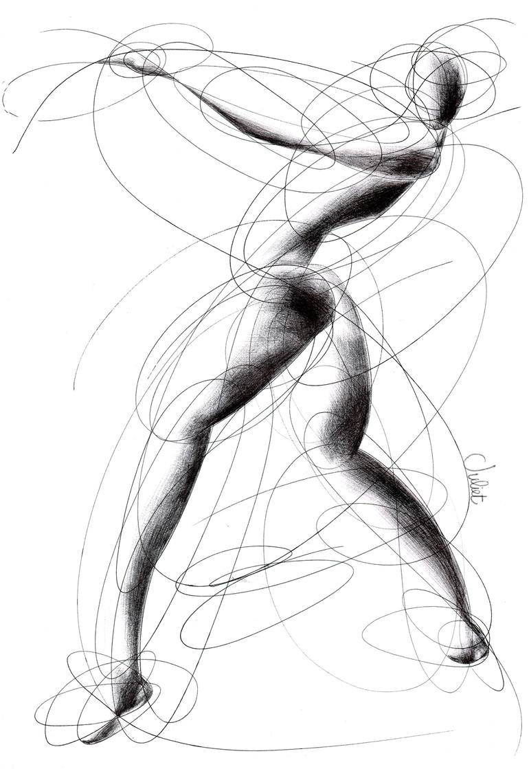 770x1119 Saatchi Art Surrounding Lines Drawing By Giulia Marras
