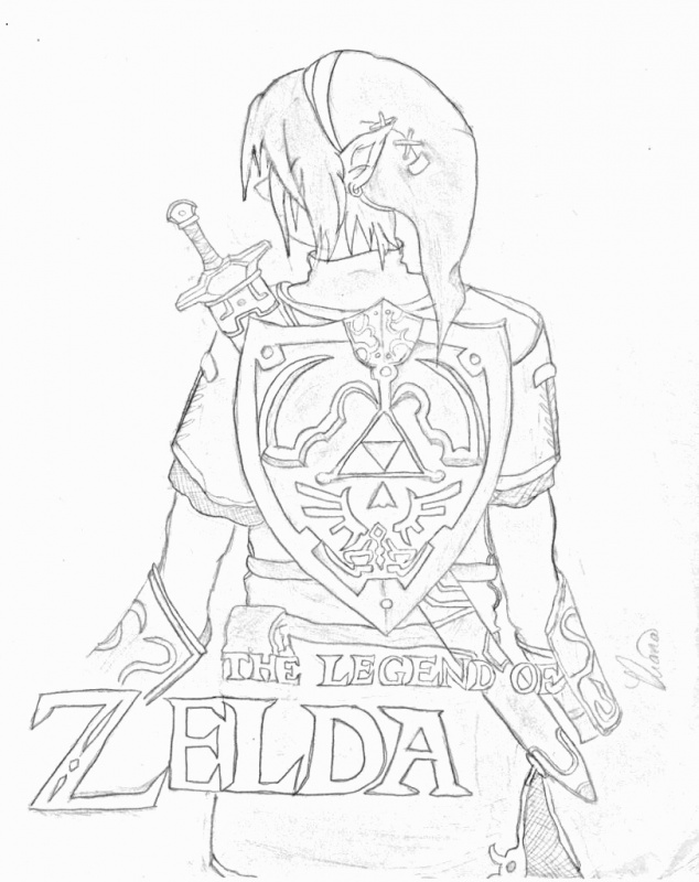 Link And Zelda Drawing At Getdrawings Com Free For