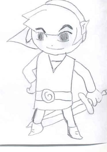 372x528 Drawing Of Toon Link From The Wind Waker Zelda Fan Art