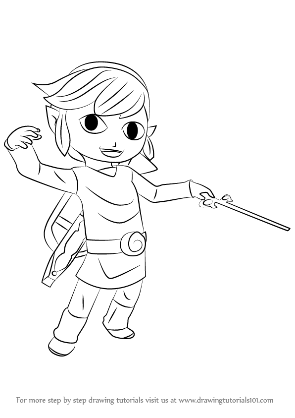 596x843 Learn How To Draw Toon Link From Super Smash Bros (Super Smash