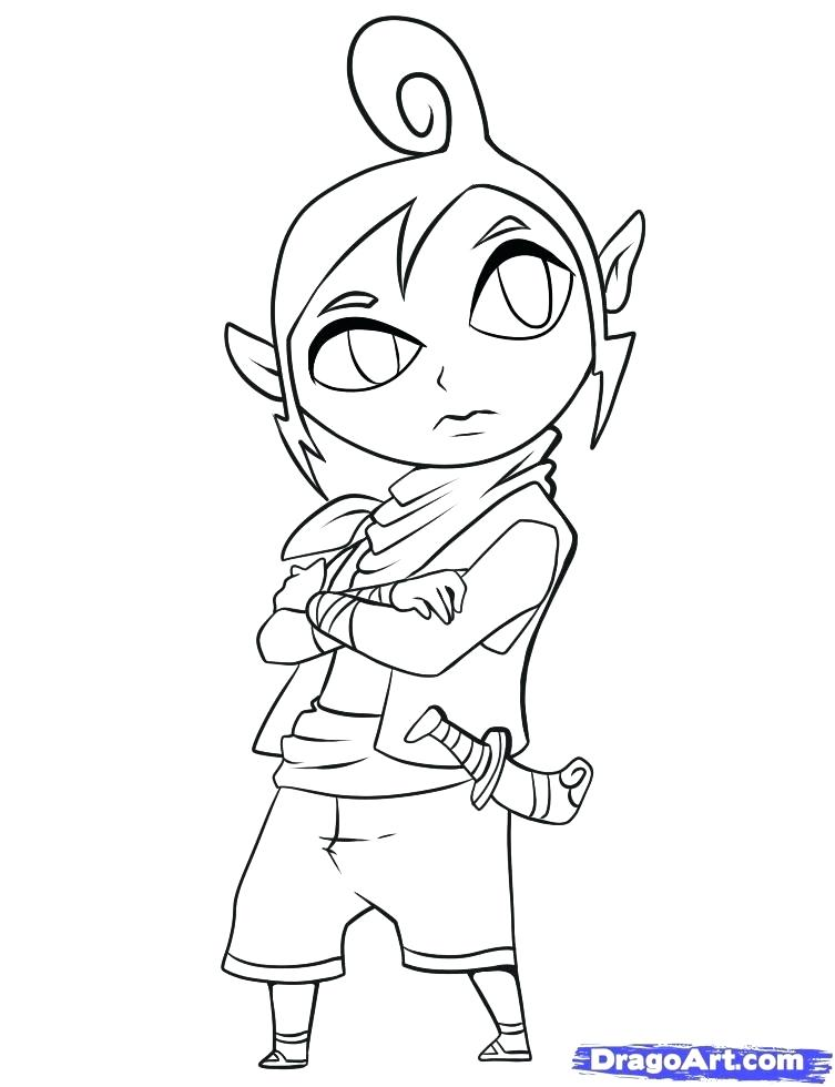 753x980 Link Coloring Pages Link Coloring Pages How To Draw Tetra Step By