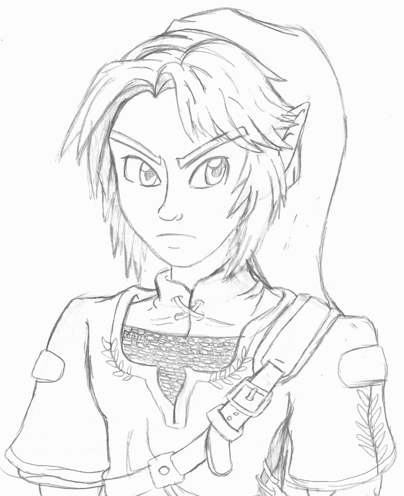 807x990 The Legend Of Zelda ~ Link Pencil Sketch By Th3antiguardian