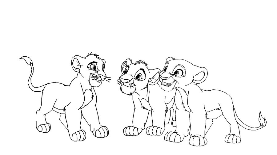 900x506 3 Lion Cubs Baase By Scarzdaughter