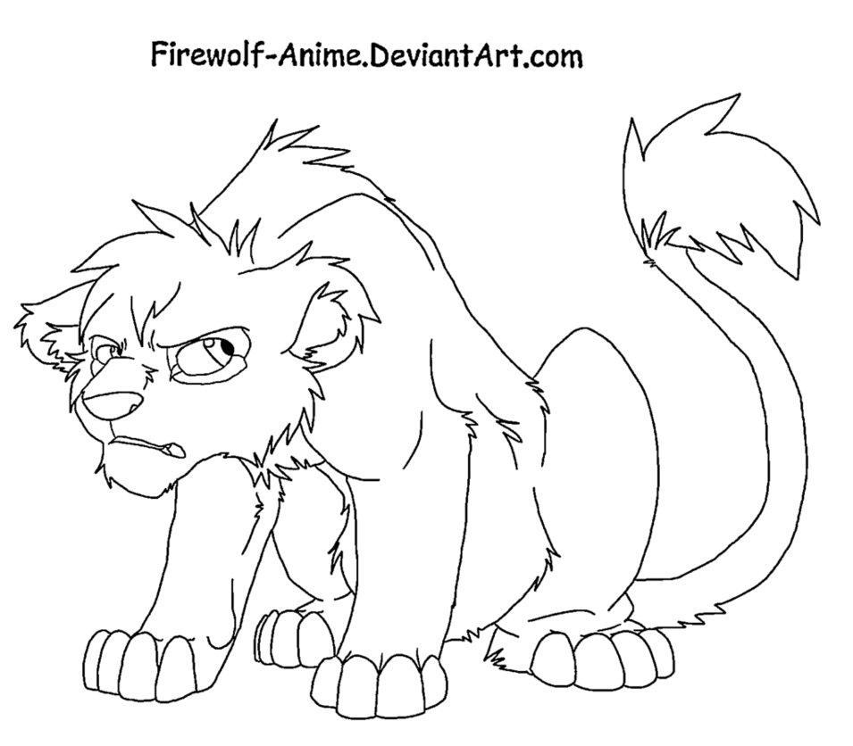 955x836 Grumpy Lion Cub By Firewolf Anime