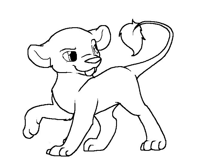 712x558 Lion Cub Base. By Puppynubs