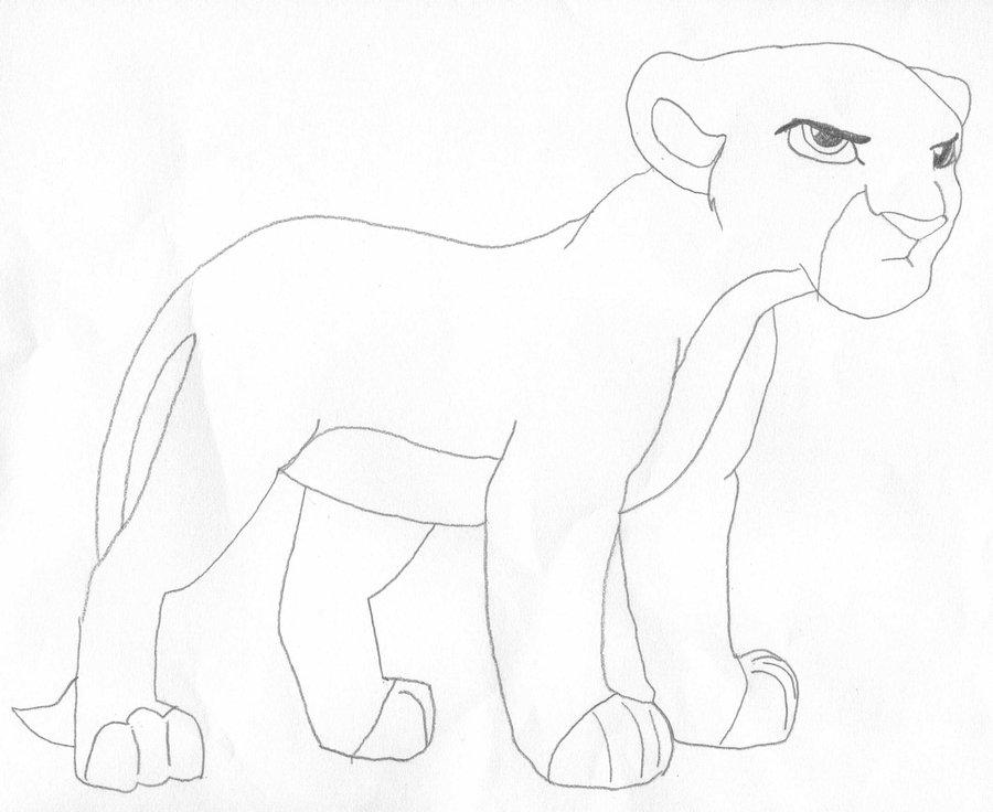 900x736 Lion King Grumpy Cub Line Art By Tsumefangirl