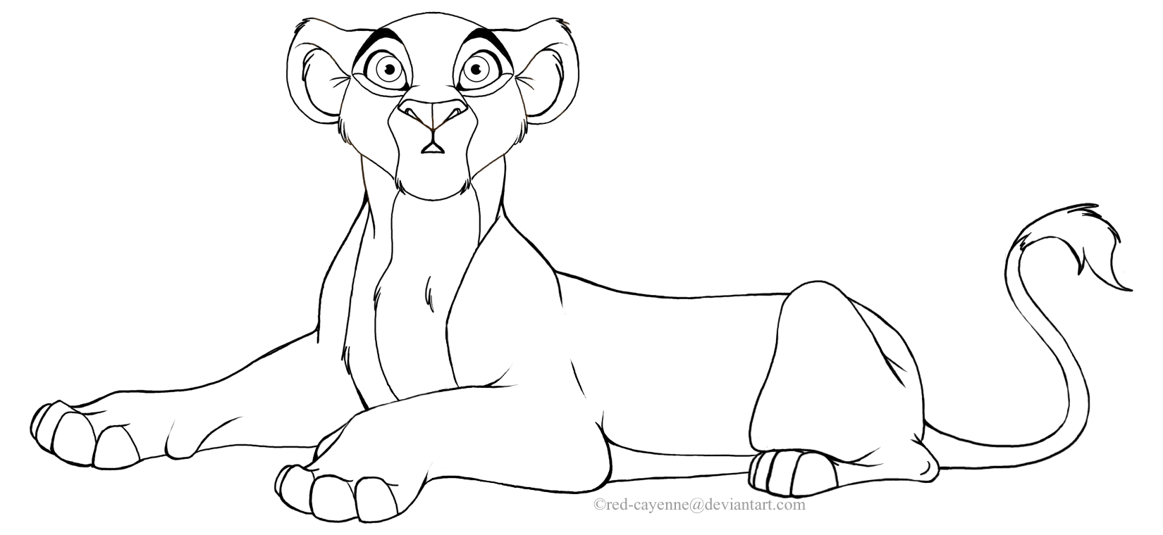 1650x760 Lion King Lioness Base Lion King Mother And Cubs Base Lineart