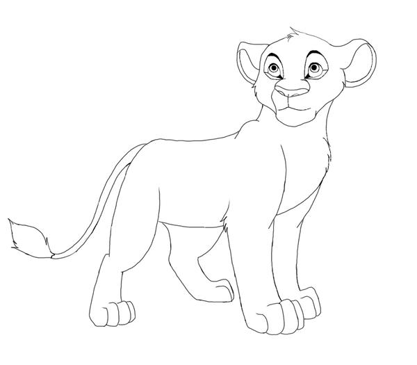 600x525 Lion Cub By Splasher91