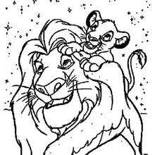 220x220 Lion Cubs Ride On An Ostrich Coloring Pages