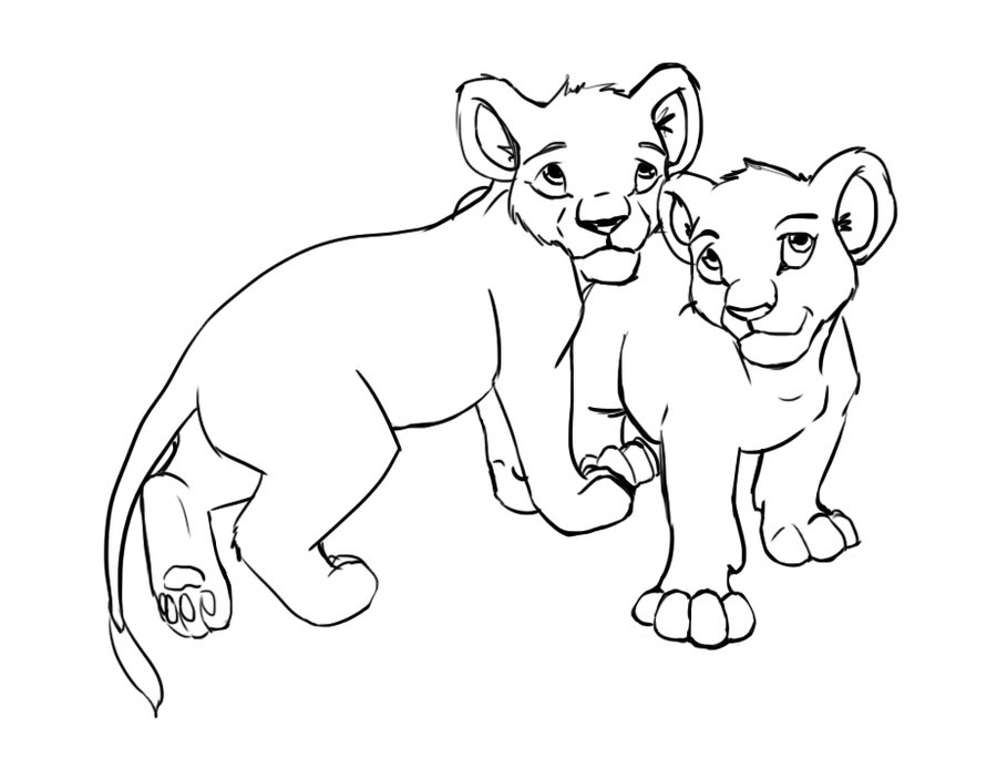 900x684 Two Cub Lion By Liliebia