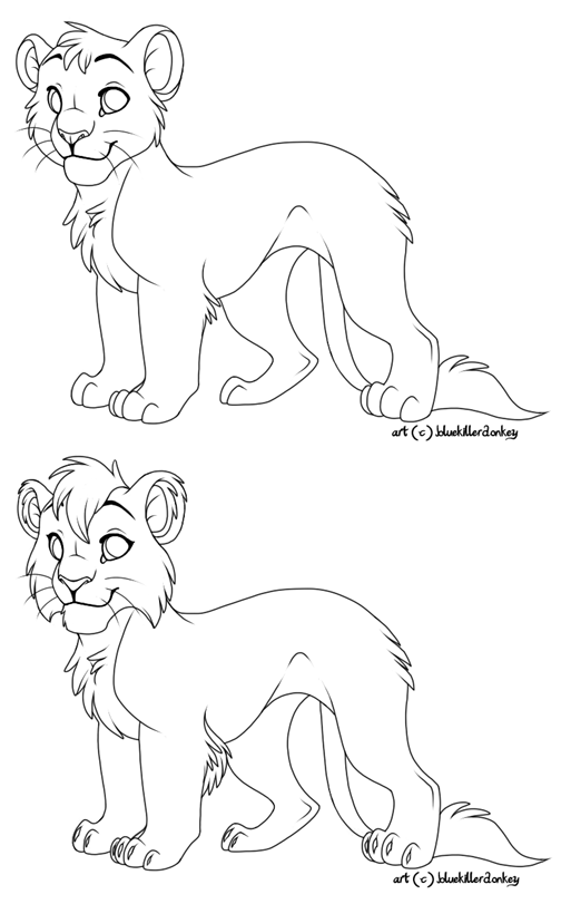 504x811 Color Me Lion Cub By Bluekillerdonkey