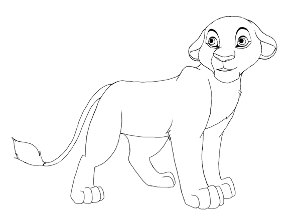 600x437 Female Lion Cub By Splasher91