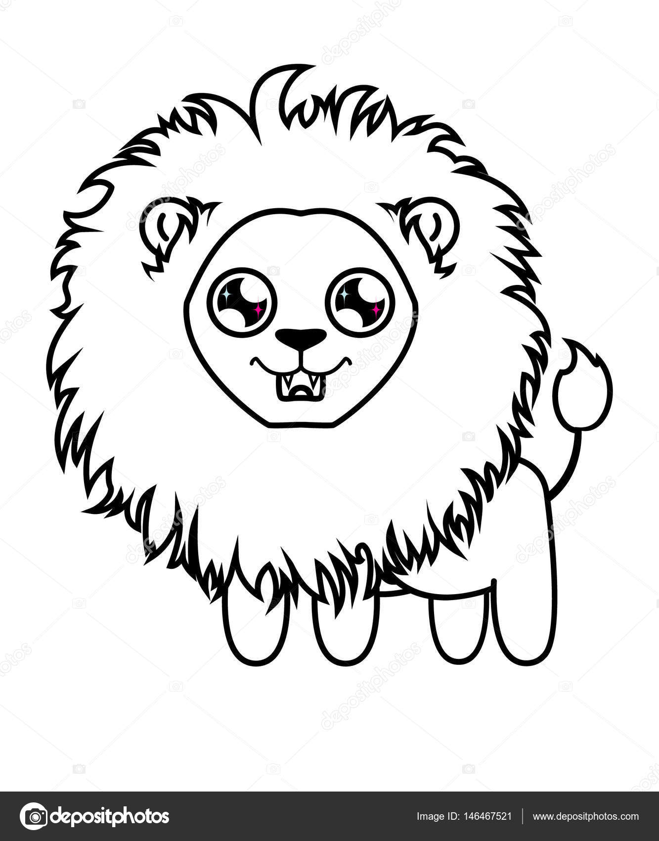 1333x1700 Dear Little Lion. Lion Cub Coloring Stock Vector Dafna93