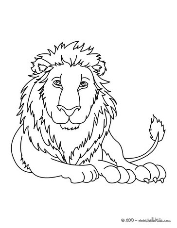 364x470 Lioness With Lion Cub Coloring Pages