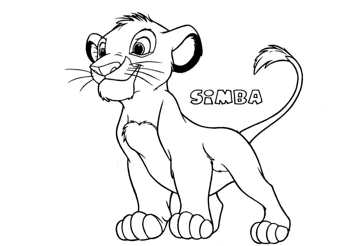 1200x848 Simba5 The Lion King Coloring Page