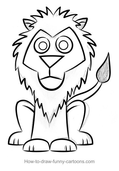 420x602 Coloring Pages Easy Drawing Of A Lion Drawings 002 Coloring