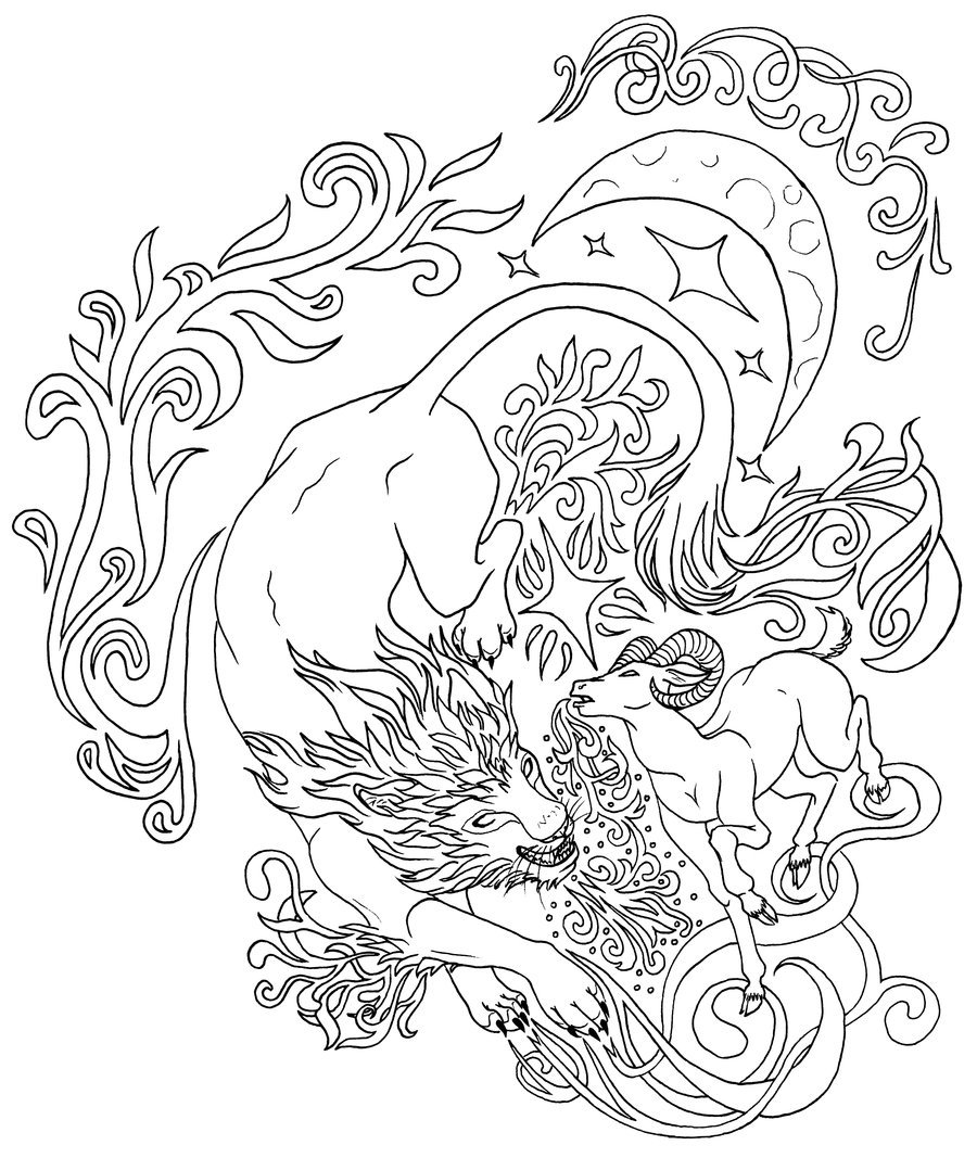Lion And Lamb Drawing at GetDrawings.com   Free for personal use ...