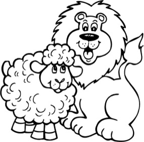 286x282 Lion And Lamb Coloring Pictures March Lion And Lamb Coloring Pages