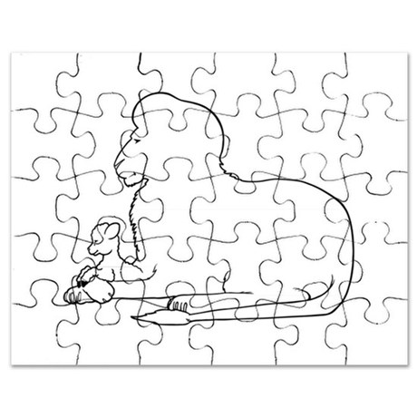 460x460 Lion And Lamb Puzzles, Lion And Lamb Jigsaw Puzzle Templates