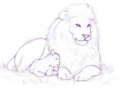 236x175 Lion And Lamb. Interesting. I Like The Style But I Don'T Think I'D