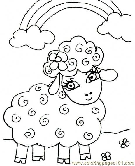 463x571 Mesmerizing Lamb Coloring Page 18 In Coloring Pages For Kids