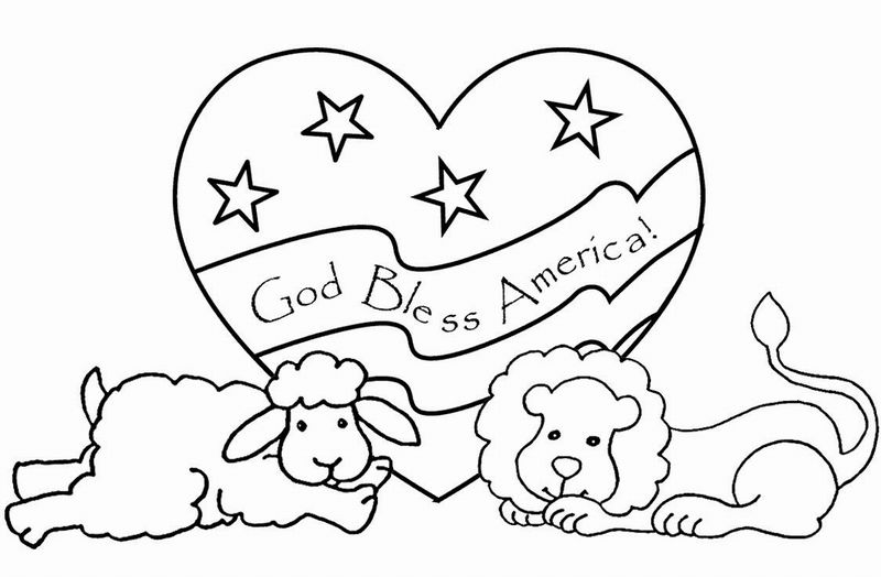 coloring pages lion and lamb - photo#14