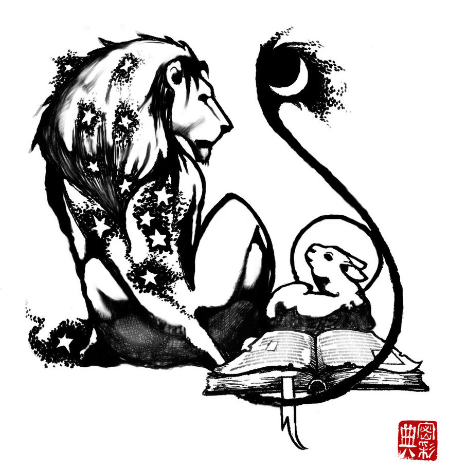 873x915 The Lion And The Lamb By Farshore
