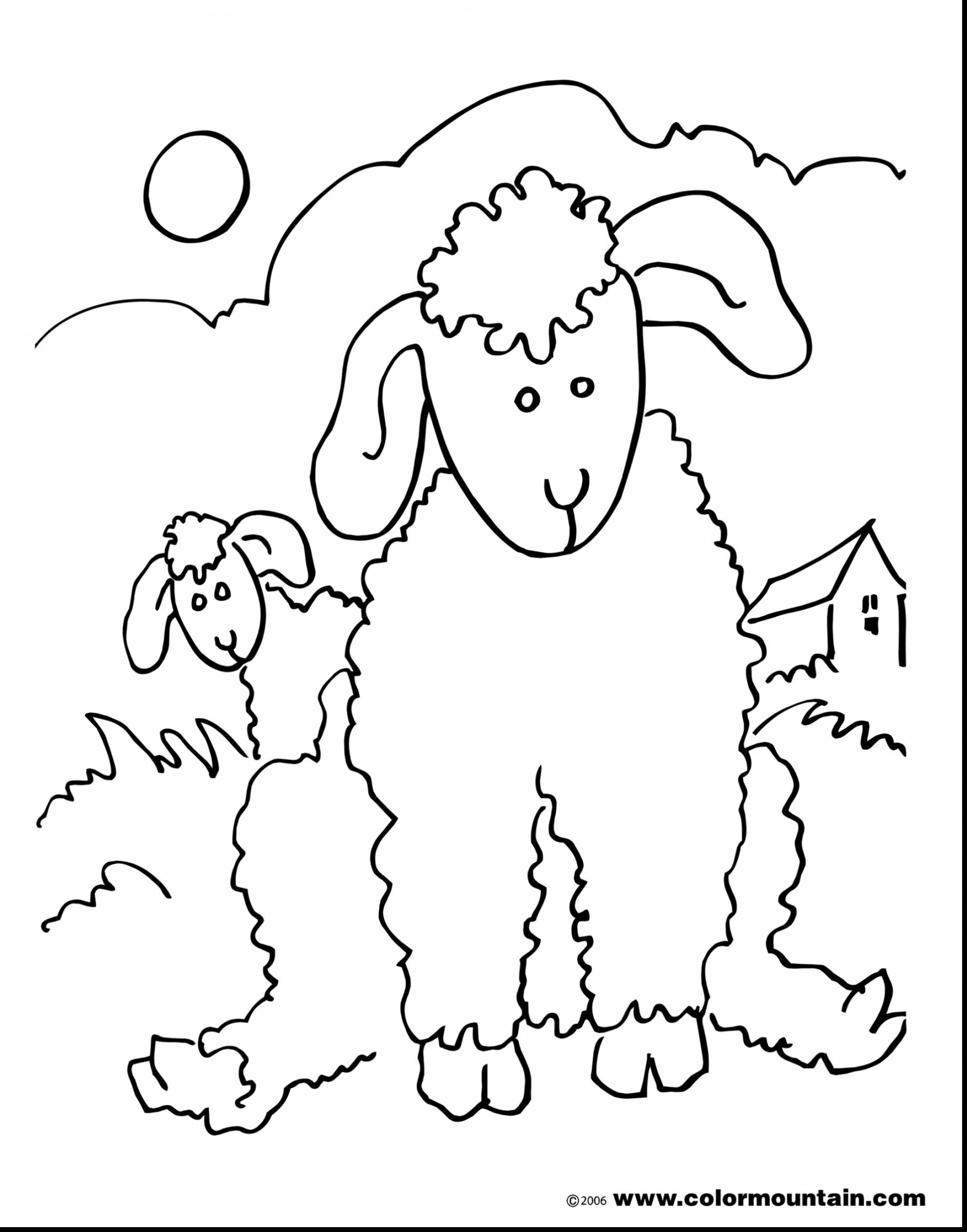 1980x2523 Brilliant Lion And Lamb Coloring Pages With Lamb Coloring Page