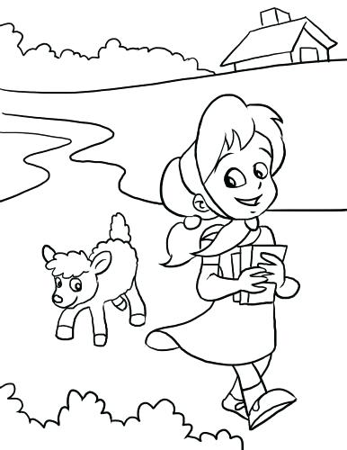 386x500 Lamb Coloring Pages
