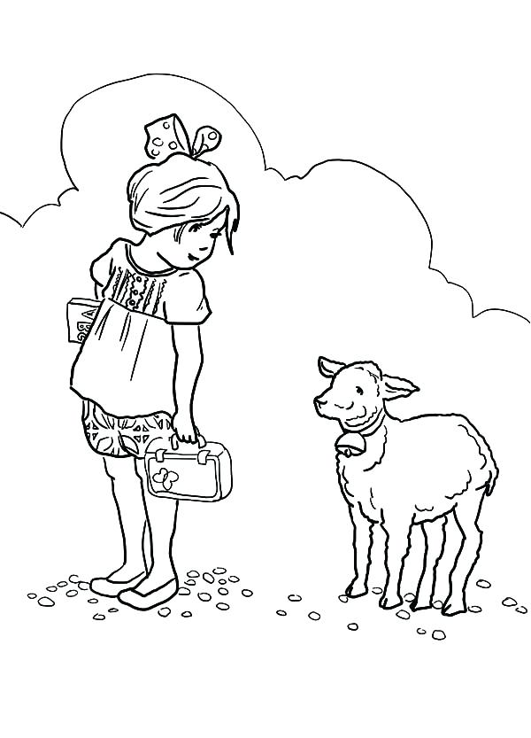 600x833 Lion Lamb Coloring Page Best Collection Coloring Pages