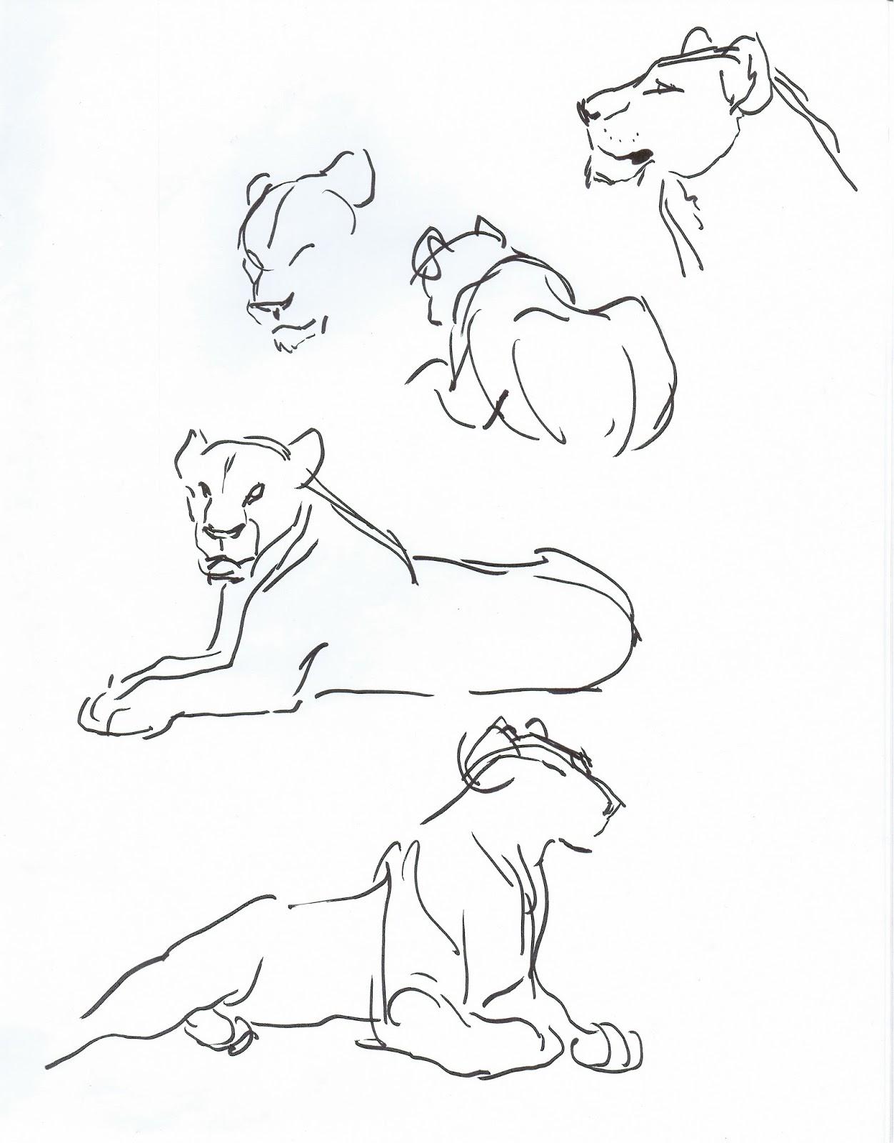 1252x1600 Deja View Drawing Lions