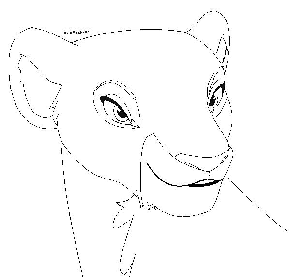 597x571 Lion Base Beautiful Lioness By Sjsaberfan