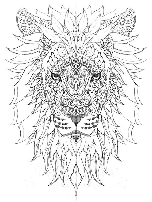 600x797 Lion Color Page Coloring Book Pages Lions, Tatoos
