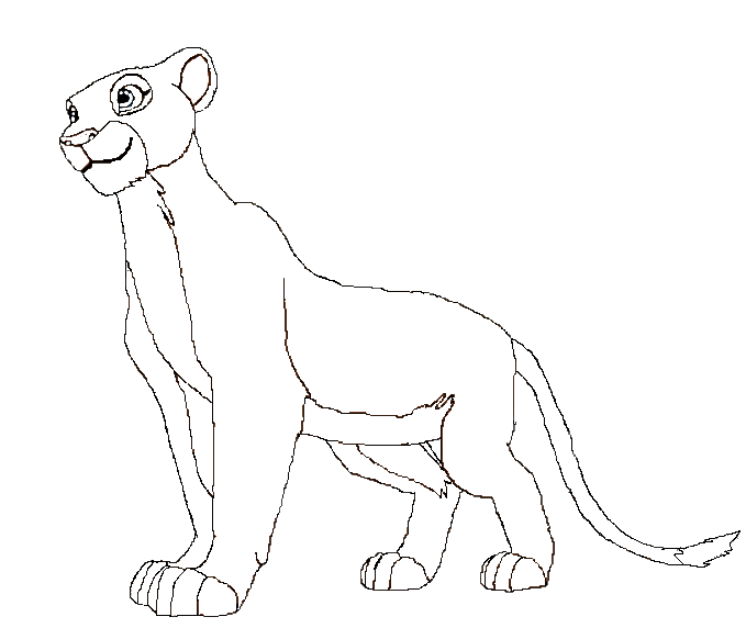 Lion and lioness drawing at free for for Lioness coloring pages