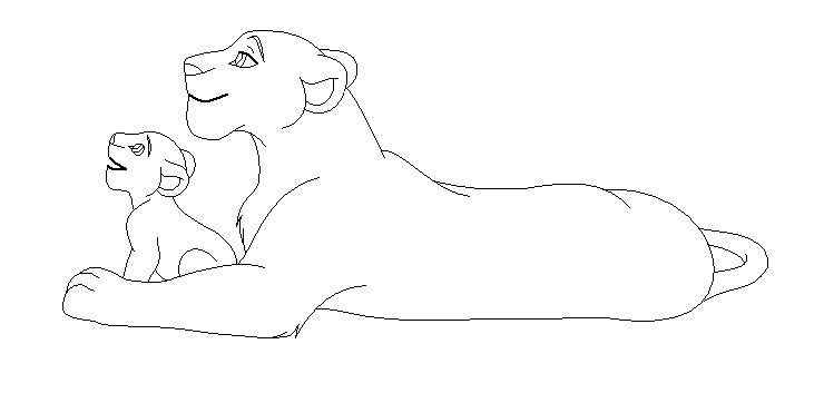 740x353 Lioness And Cub Base By Namacub95