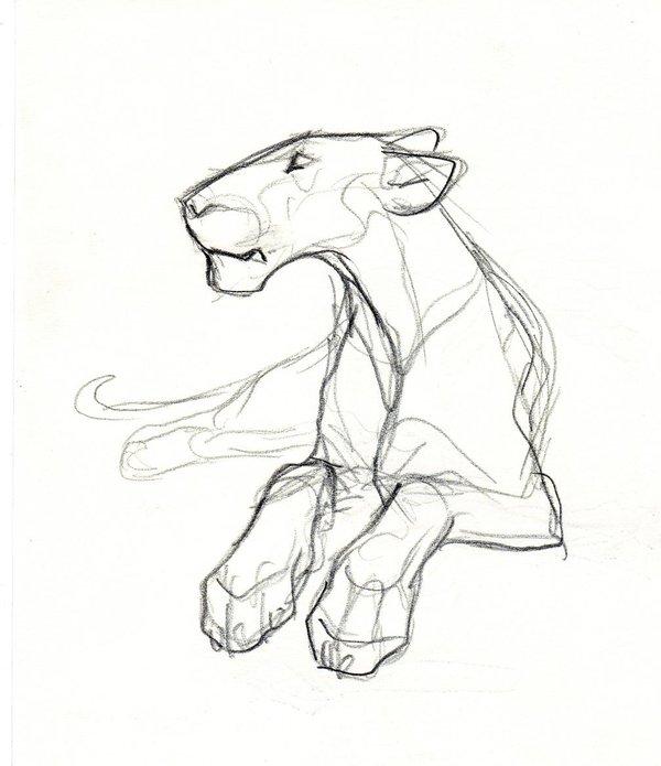 600x695 Lioness Sketch By Theurbanfox