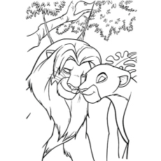 230x230 Anime Lioness Coloring Pages Disney Lion King Coloring Pages