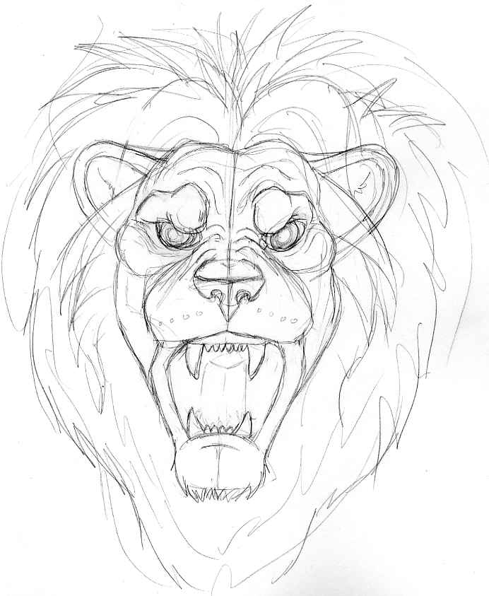 692x843 Snarling Lion By Poim
