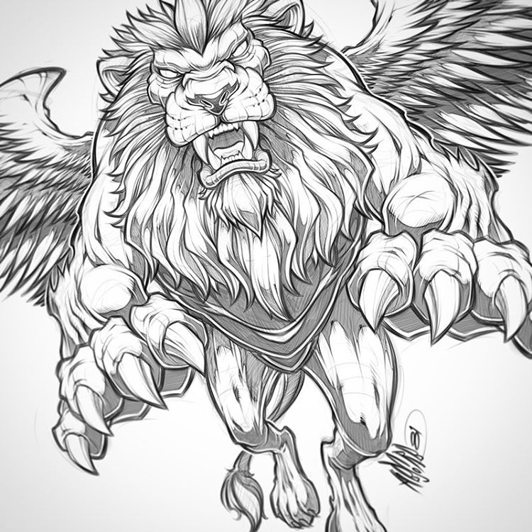 The Best Free Winged Drawing Images  Download From 543