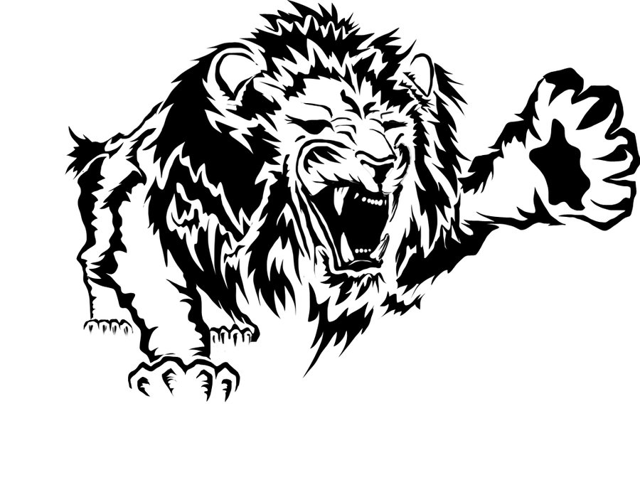 Line Drawing Of Lion : Lion art drawing at getdrawings free for personal use