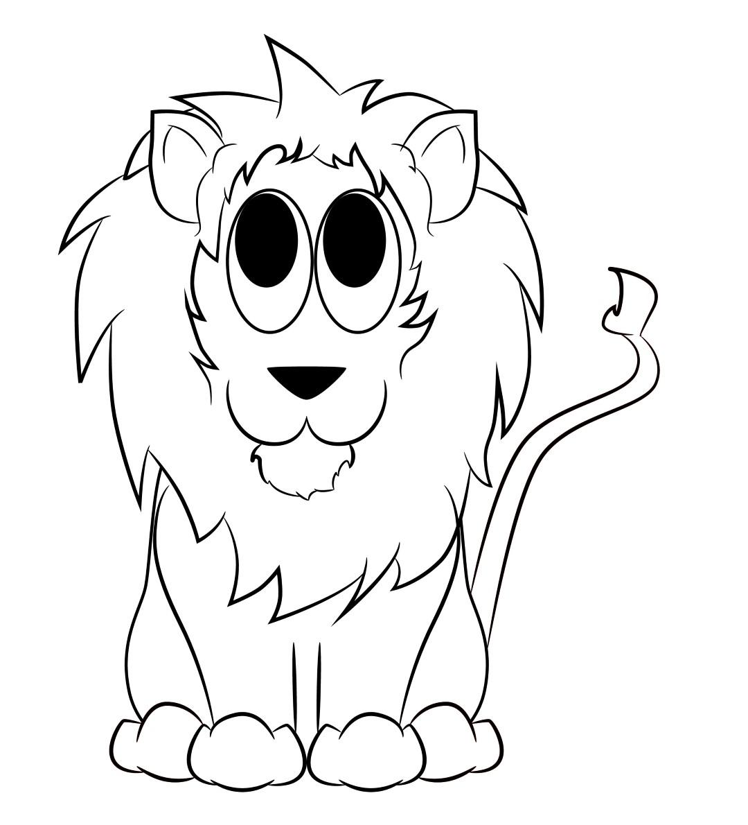 1080x1190 Cartoon Lion Drawing