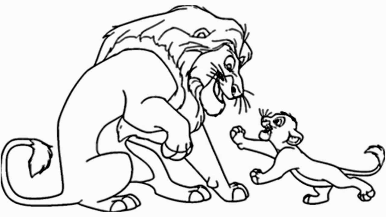 1280x720 Coloring Pages Charming The Lion King Drawing Maxresdefault