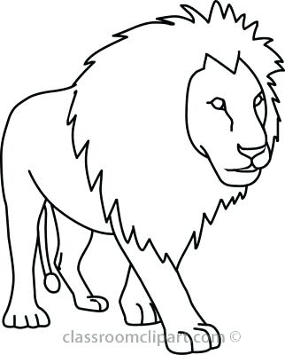 322x400 Lion Drawing Outline Lion Black White Lion Clip Art Black