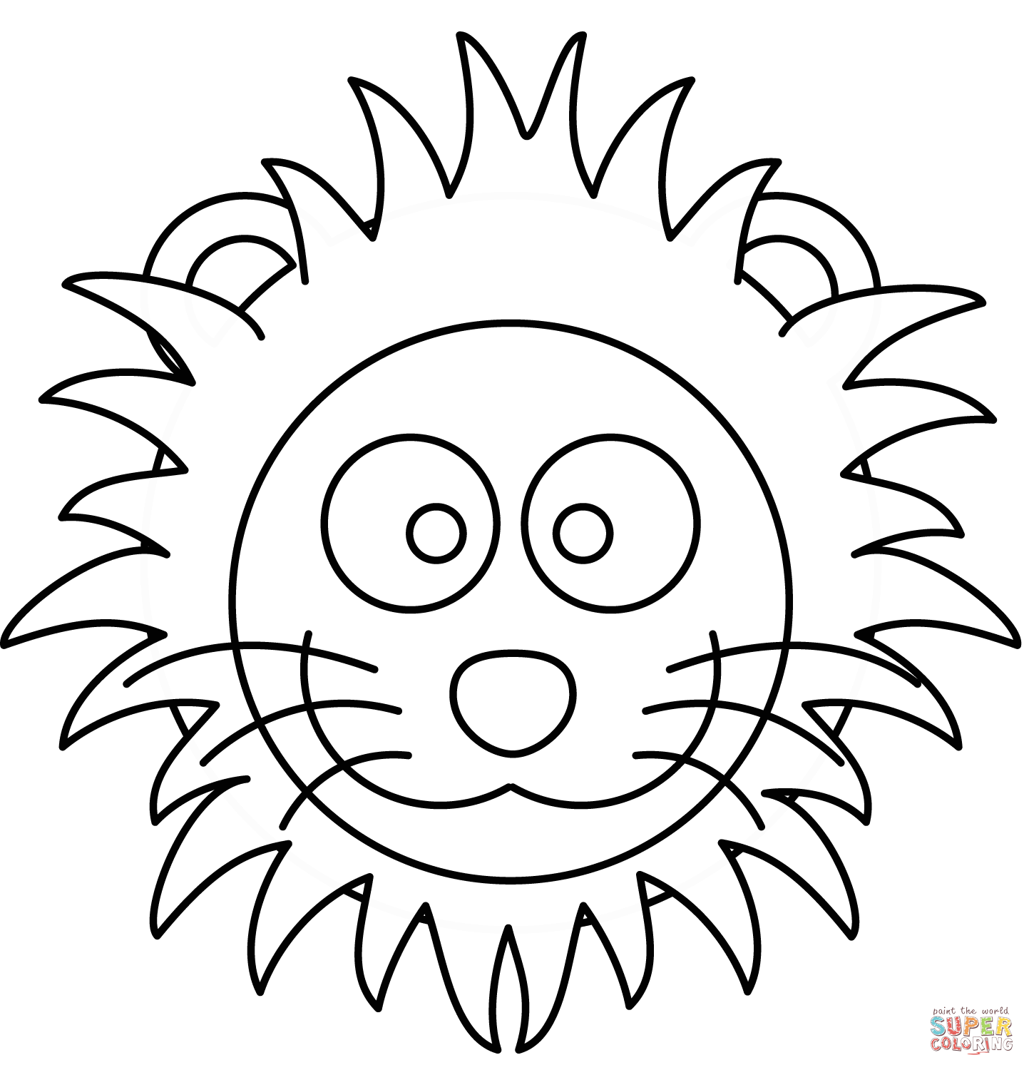 1443x1500 Cartoon Lion Head Coloring Page Free Printable Coloring Pages