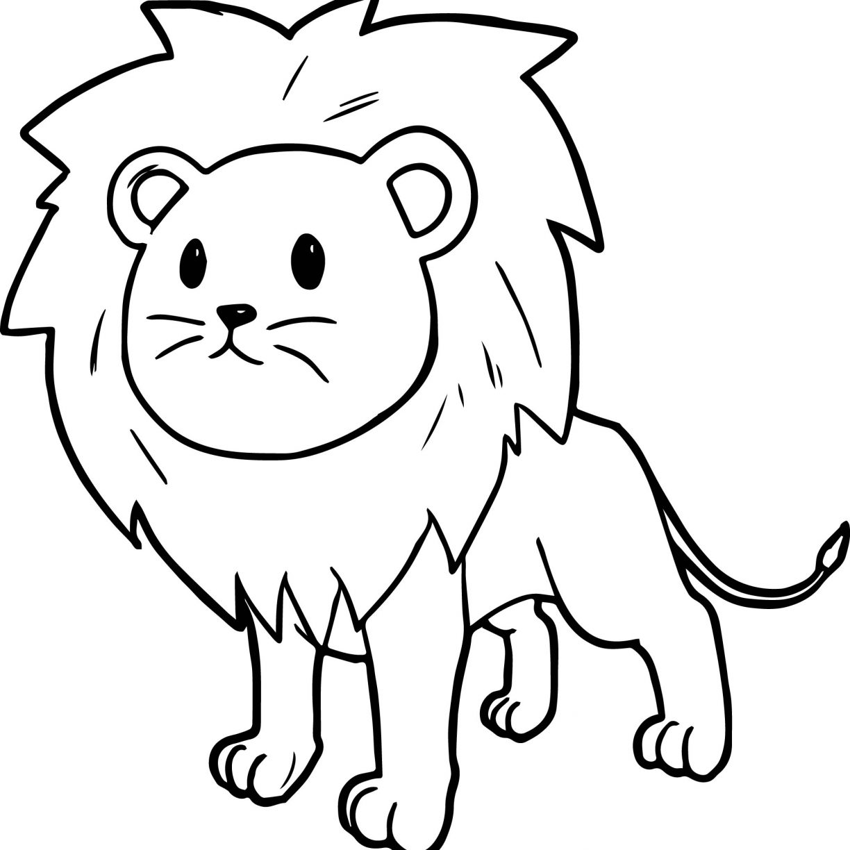 1224x1224 African Lion Coloring Page Inside Pages Of Lions Best Glum Free