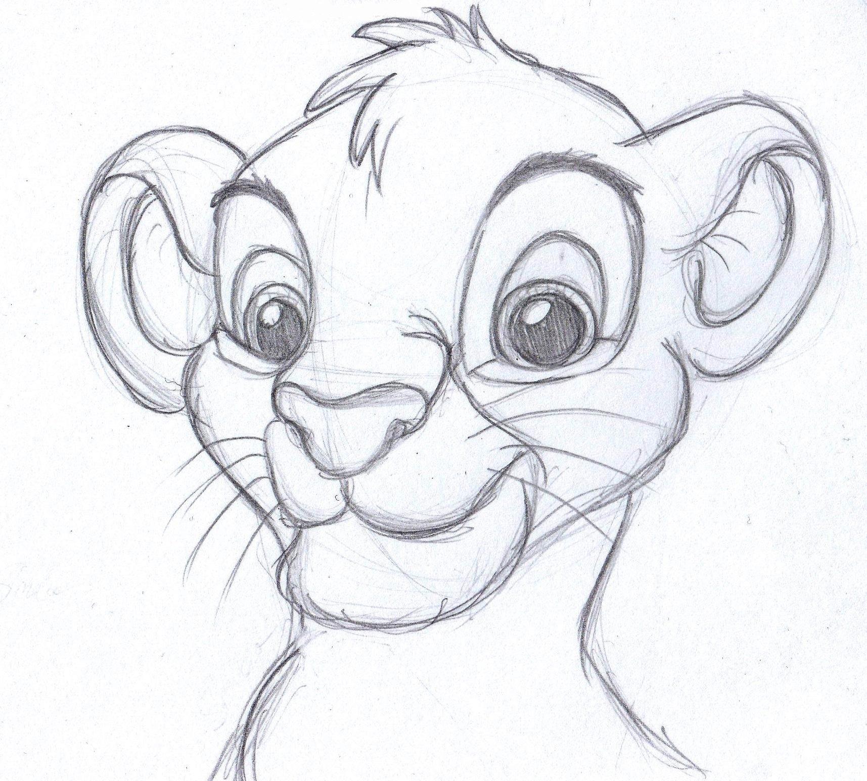 1715x1546 Easy Pencil Sketches Of Cartoon Lion