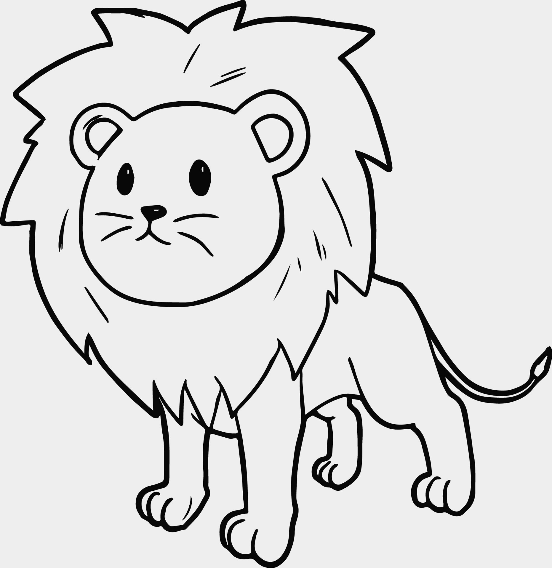 1860x1912 Awesome Cartoon Lion Coloring Pages