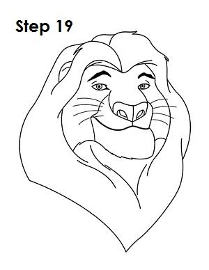 300x388 How To Draw Mufasa