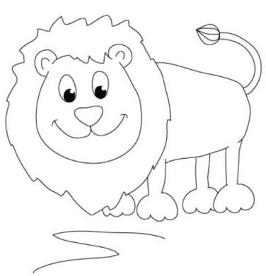 376x391 Easy To Draw Lion