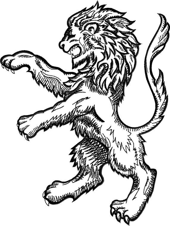 571x758 Family Crest Lion 1